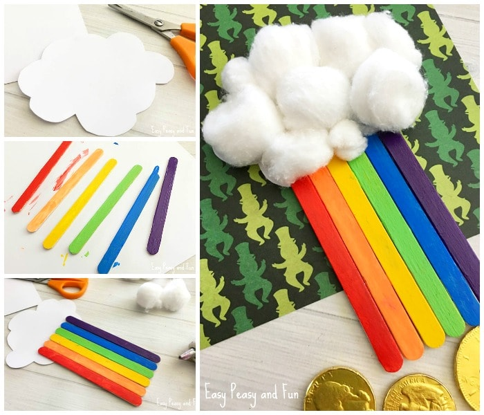 Adorable Rainbow Craft Sticks Craft for Kids