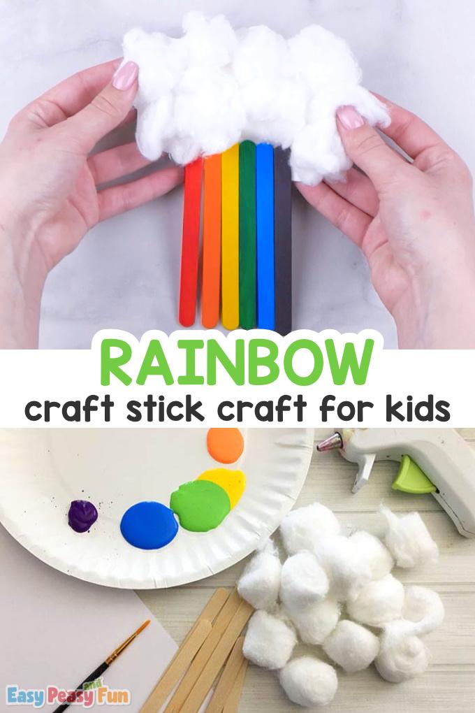 Craft Sticks Rainbow Craft for kids