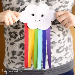 Paper Rainbow Kid Craft