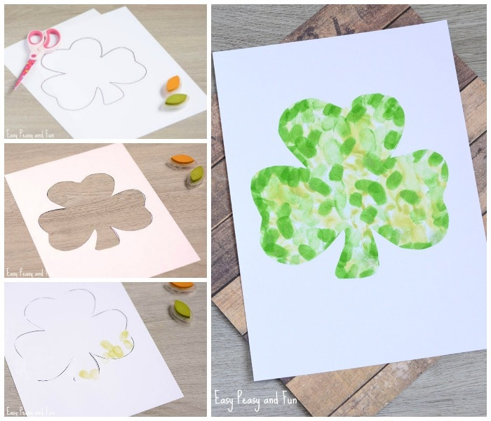 Simple Fingerprint Shamrock Craft