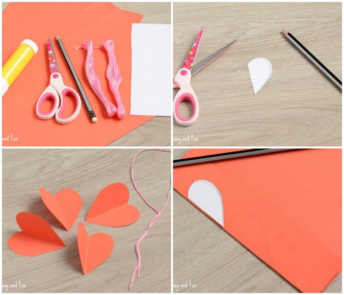 3d Paper Heart Craft Easy Peasy And Fun