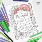 Smallest Act of Kindness Coloring Page