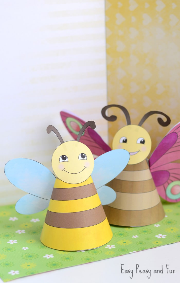 Adorable Bug Paper Toys