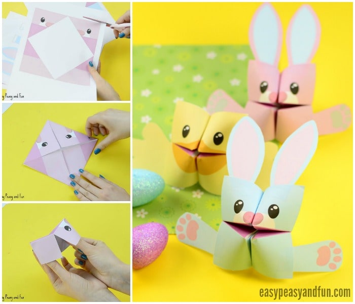 how to make an origami easter chick
