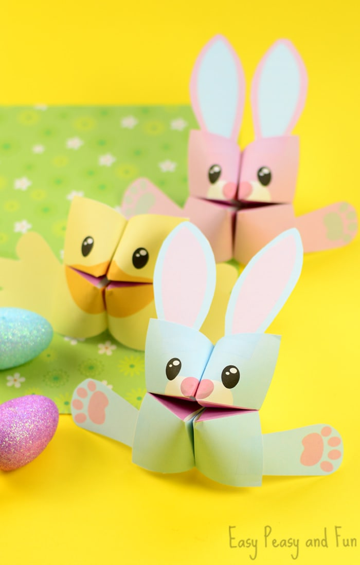 easter cootie catchers easter cootie catchers bunny and origami for 1916