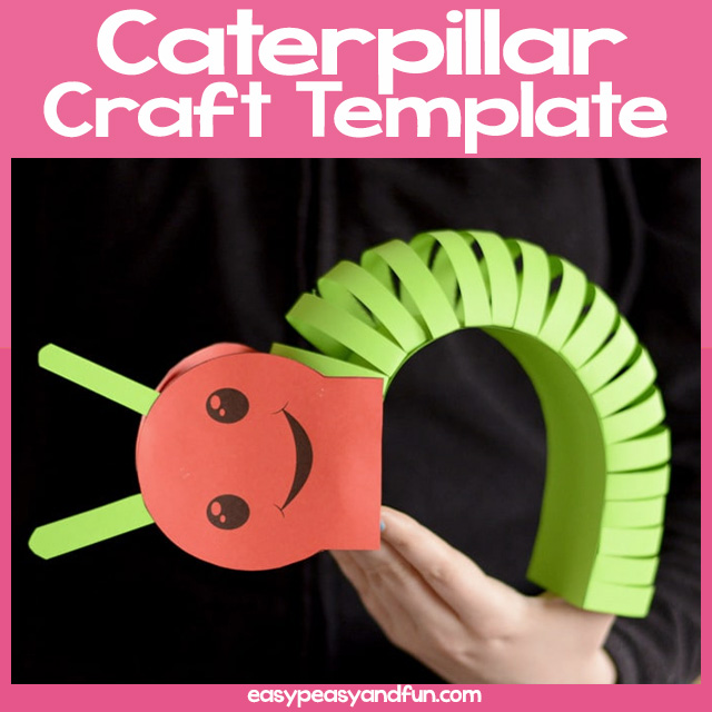 3D Caterpillar Craft Template