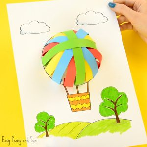 Cute Hot Air Balloon Paper Craft for Kids