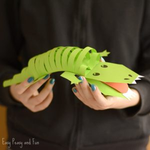 Cute Paper Crocodile Craft for Kids