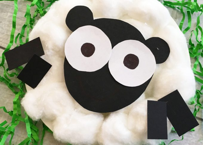 Sheep Paper Plate Craft – Easter Craft Ideas