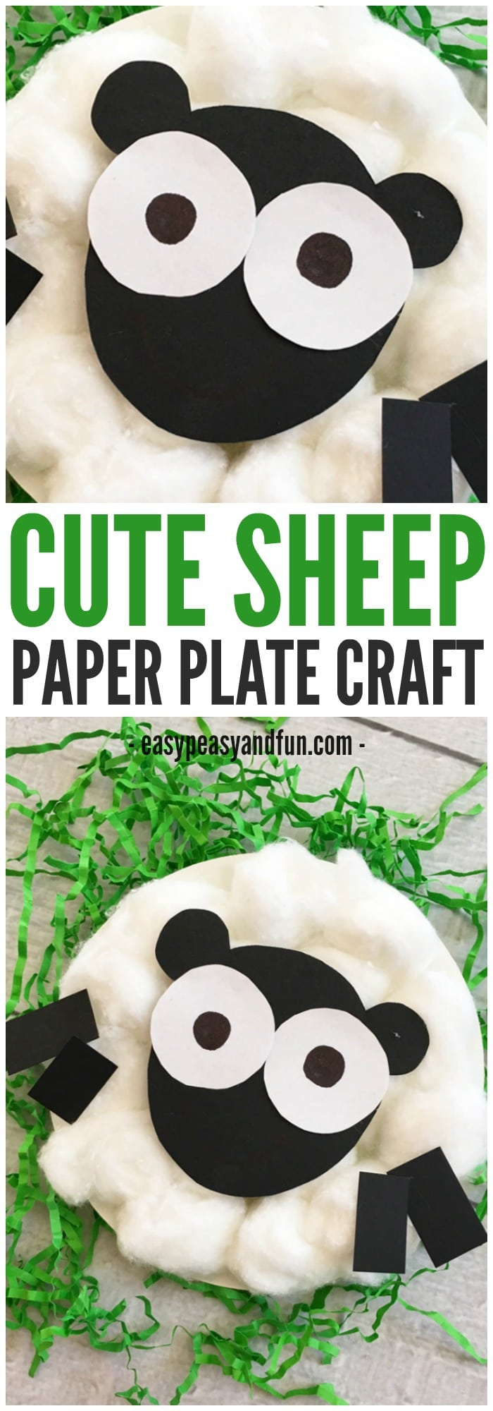Cute Sheep Paper Plate Craft for Kids