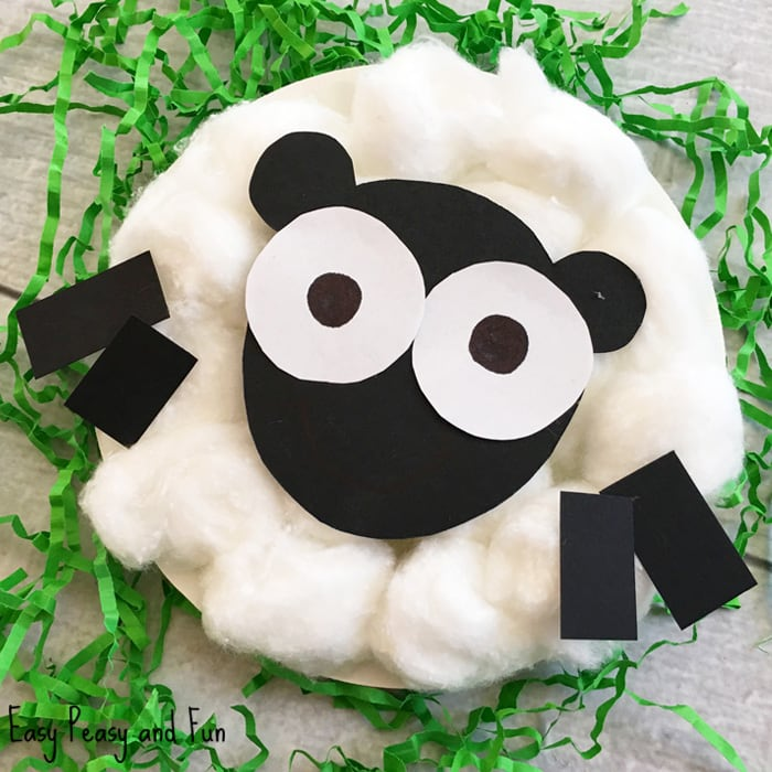 Sheep Paper Plate Craft - Easter Craft Ideas - Easy Peasy