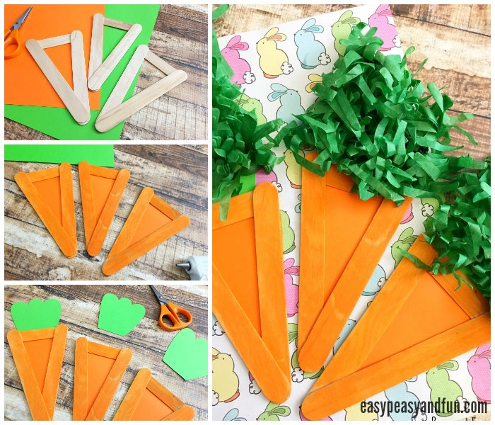 Easy and Cute Carrot Craft