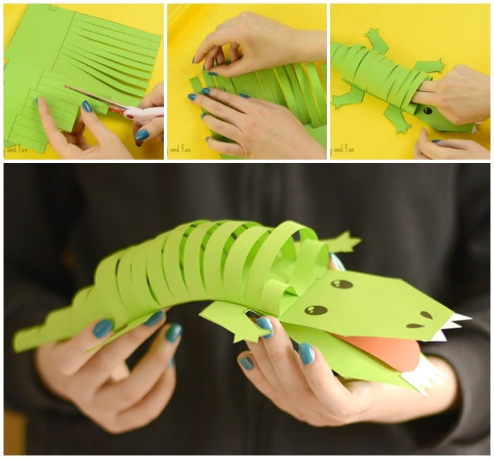 Fun Paper Crocodile Craft for Kids