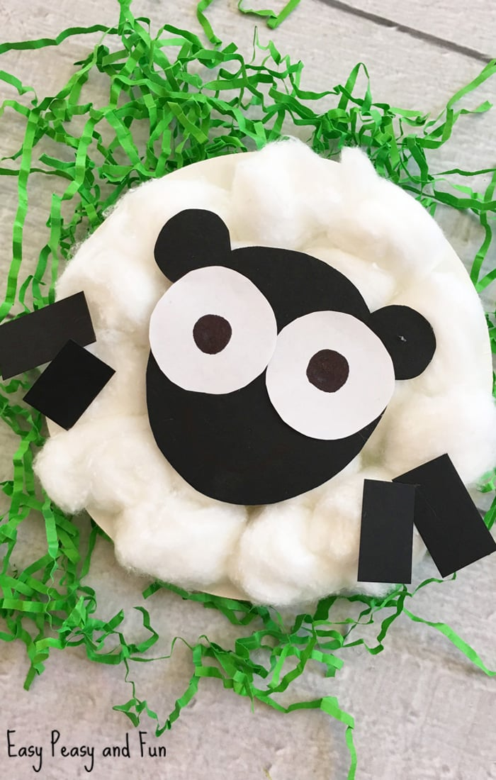 Sheep Paper Plate Craft for Kids