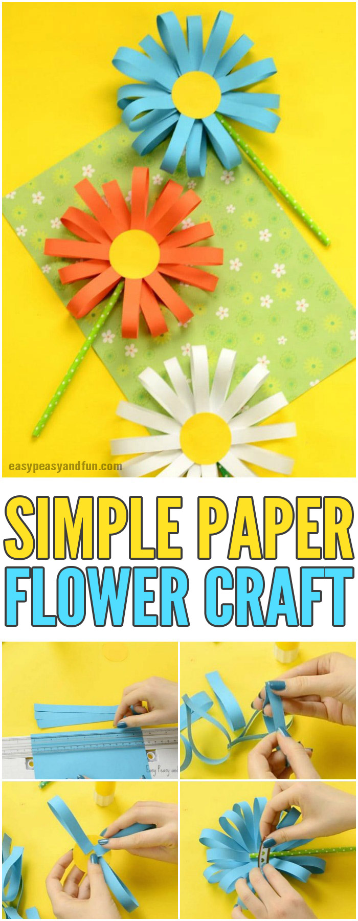 Paper flower craft easy peasy and fun simple paper flower craft for kids craftsforkids activitiesforkids papercrafts izmirmasajfo