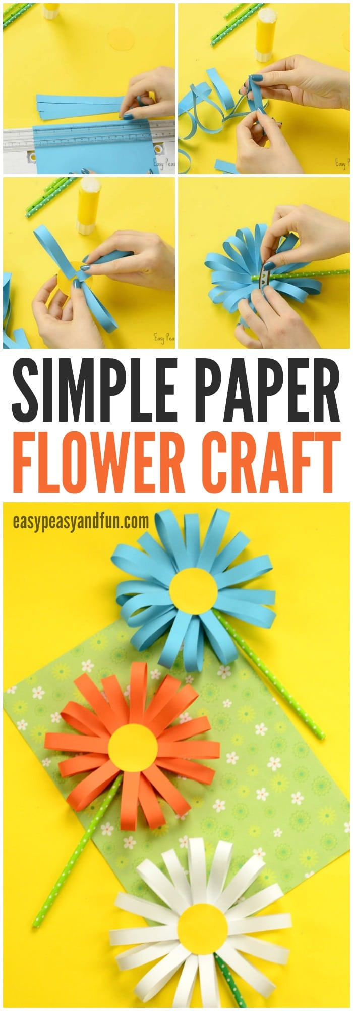 Church Classroom Decoration ~ Paper flower craft easy peasy and fun