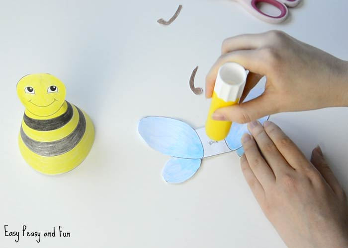Bug Paper Toys - 3D Paper Dolls - Easy Peasy and Fun
