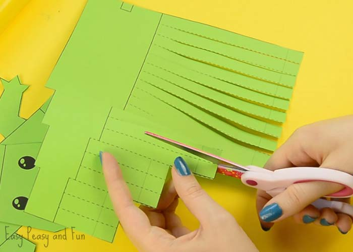 how to cut paper strips