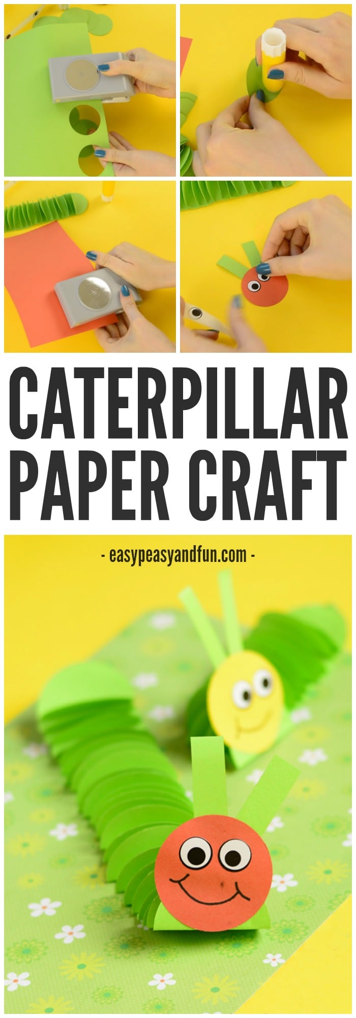 Adorable Caterpillar Paper Craft for Kids