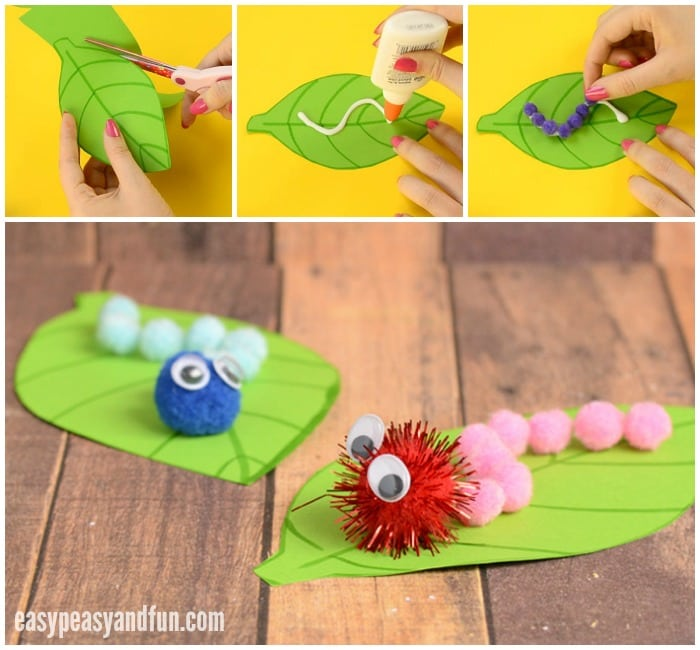 Adorable Caterpillar Pom Pom Craft