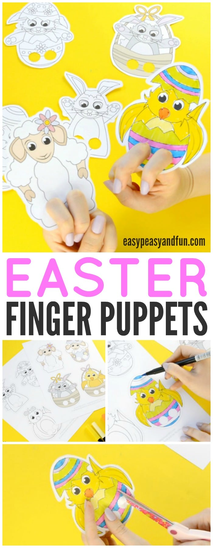Adorable Easter Finger Puppets