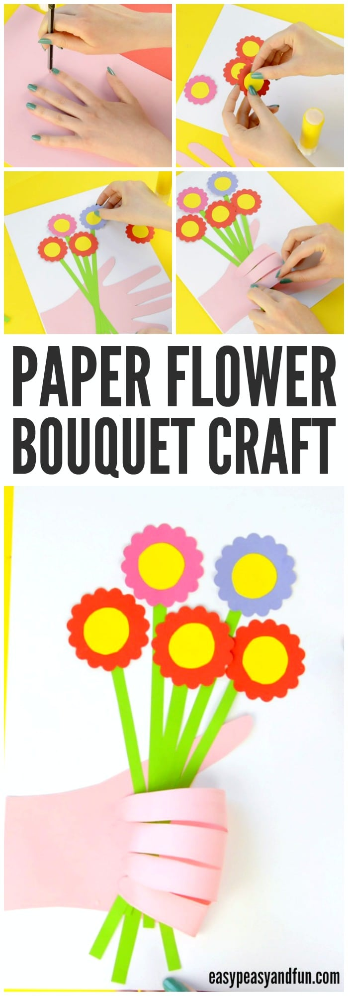 Adorable Handprint Flower Craft for Kids to Make
