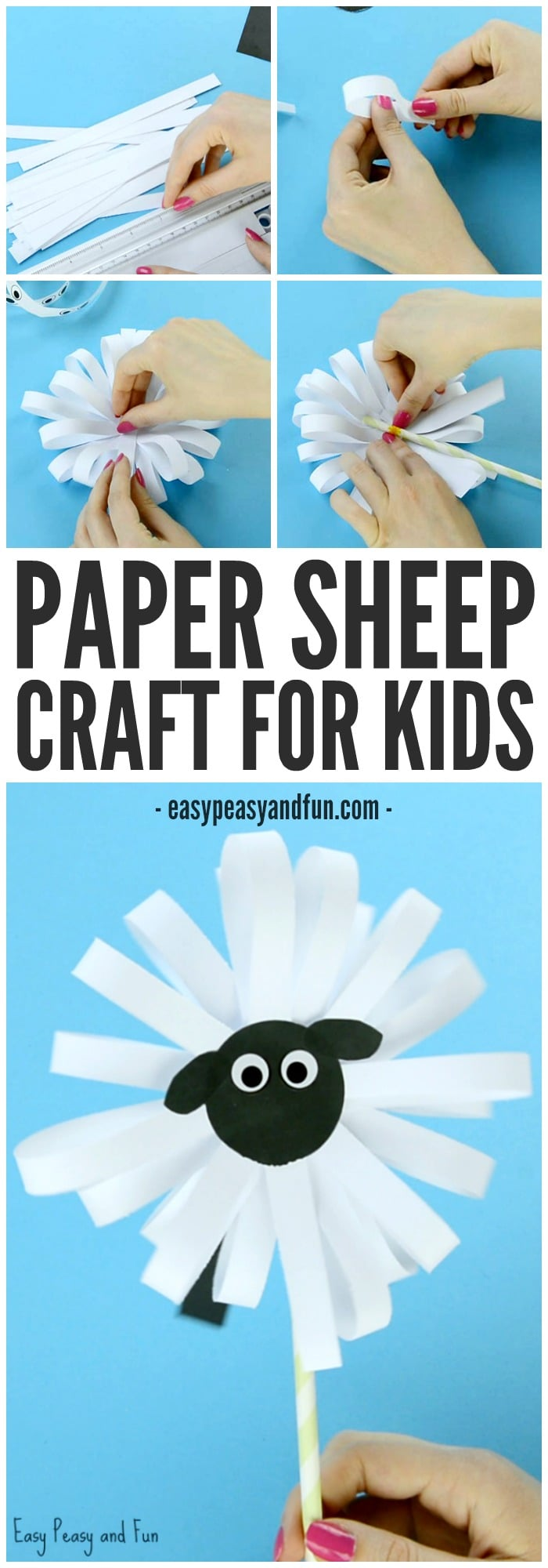 Adorable Paper Sheep Craft for Kids to Make