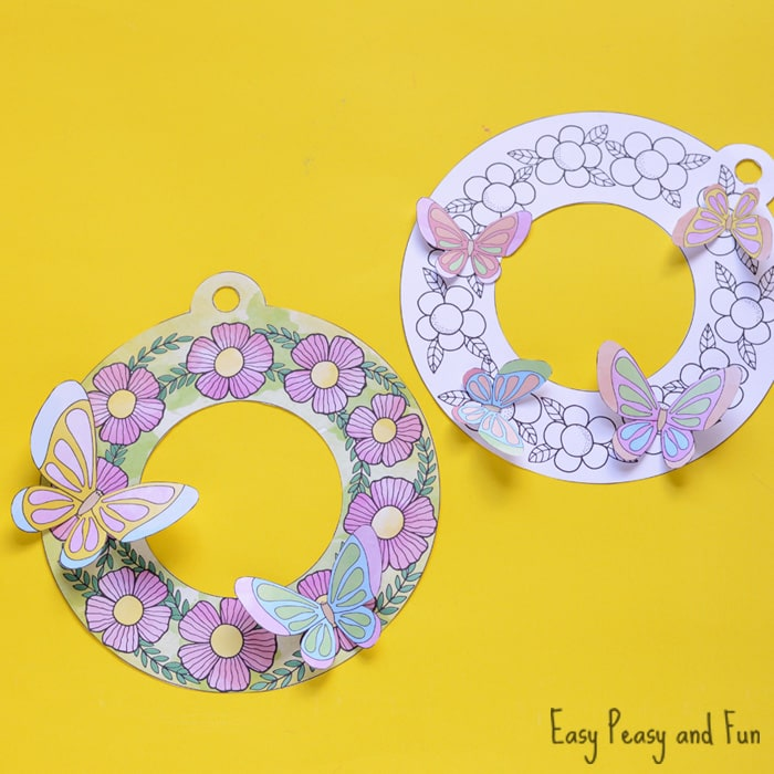 Adorable Printable Flower Wreaths