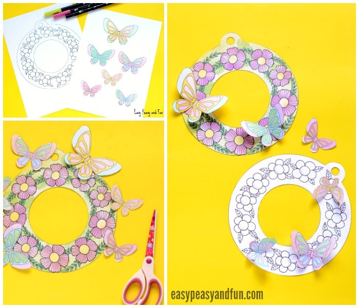 Beautiful Printable Flower Wreaths