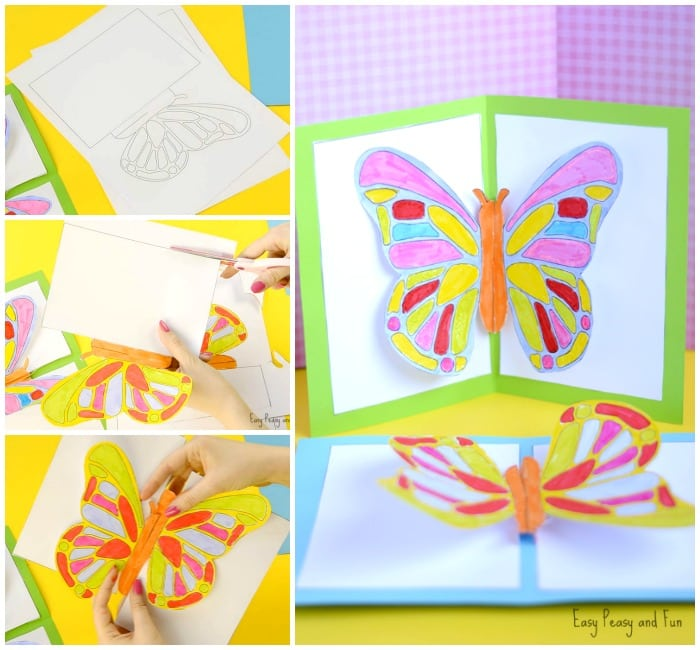 Butterfly Pop Up Card Printable Template