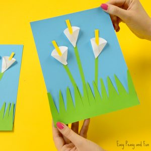 Calla Lily Paper Craft – Flower Craft Ideas