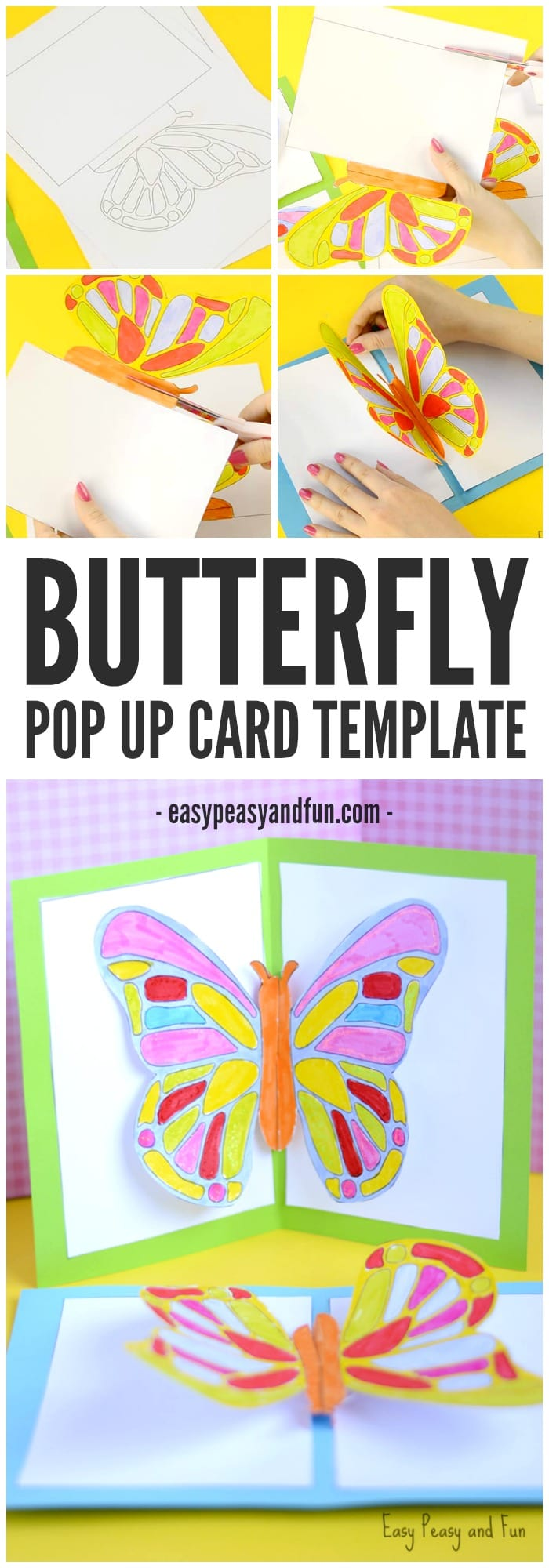 pop up storybook template - diy butterfly pop up card with a template easy peasy and fun