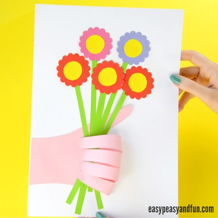 Cute Handprint Flower Craft For Kids
