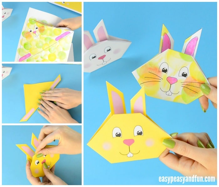 Easy Paper Bunny Origami - Red Ted Art - Make crafting with kids ... | 600x700