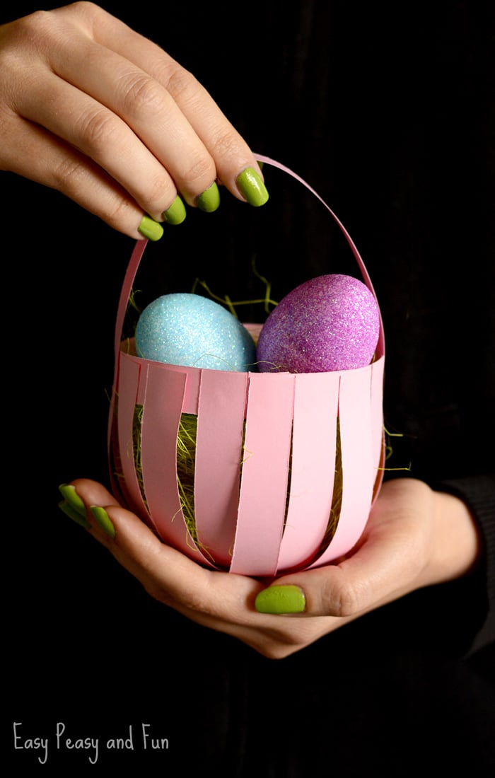 Diy Easter Paper Basket Craft Easy Peasy And Fun