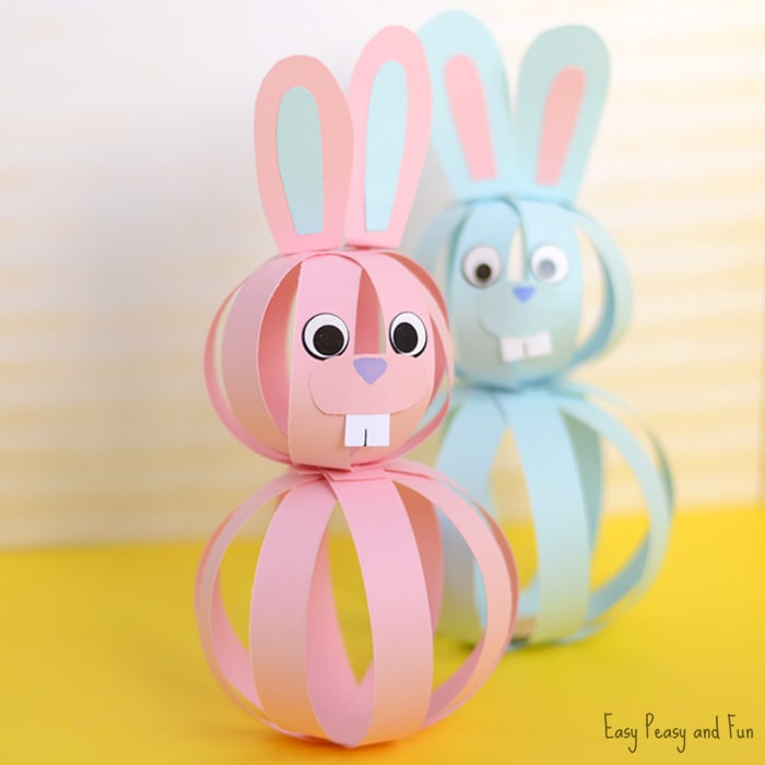 Cute Paper Bunny Craft for Kids