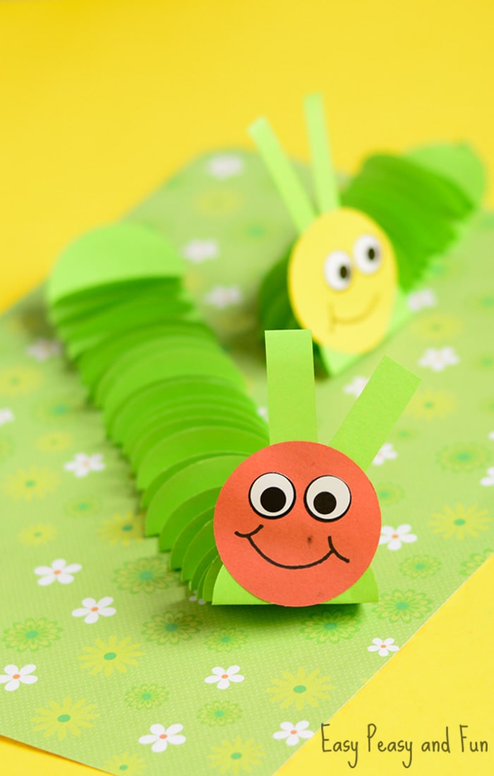 Cute Paper Caterpillar Craft for Kids