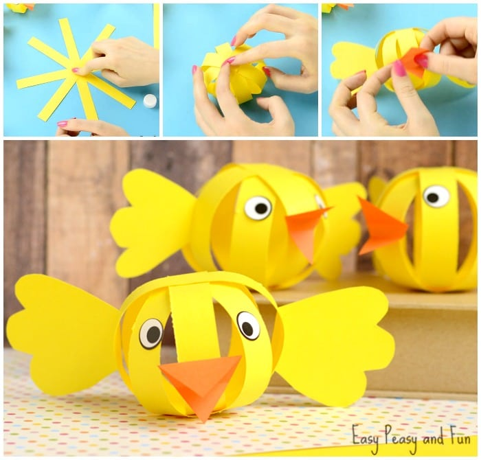 Cute Paper Chick Craft
