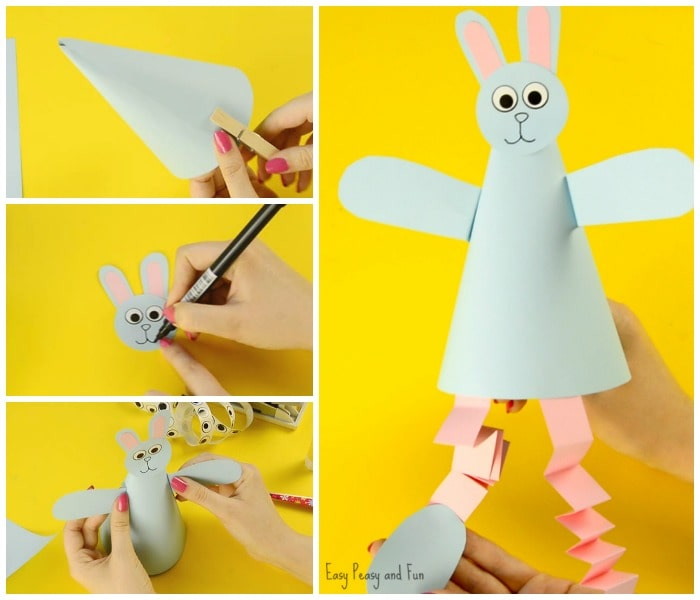 Cute Paper Cone Craft for Kids
