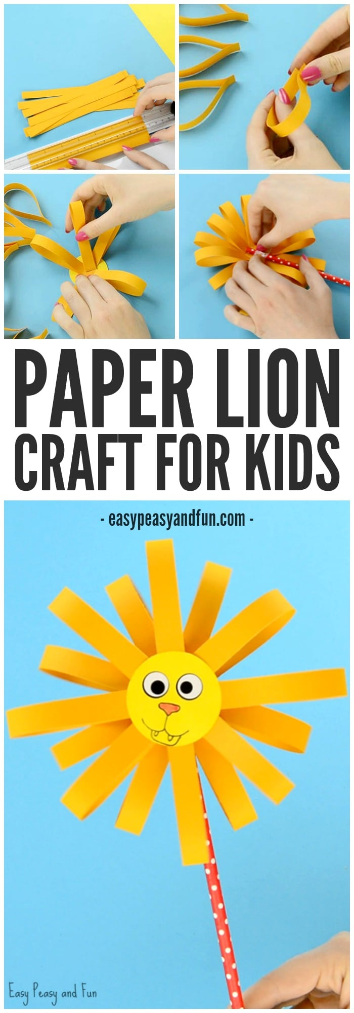 Cute Paper Lion Craft for Kids to Make