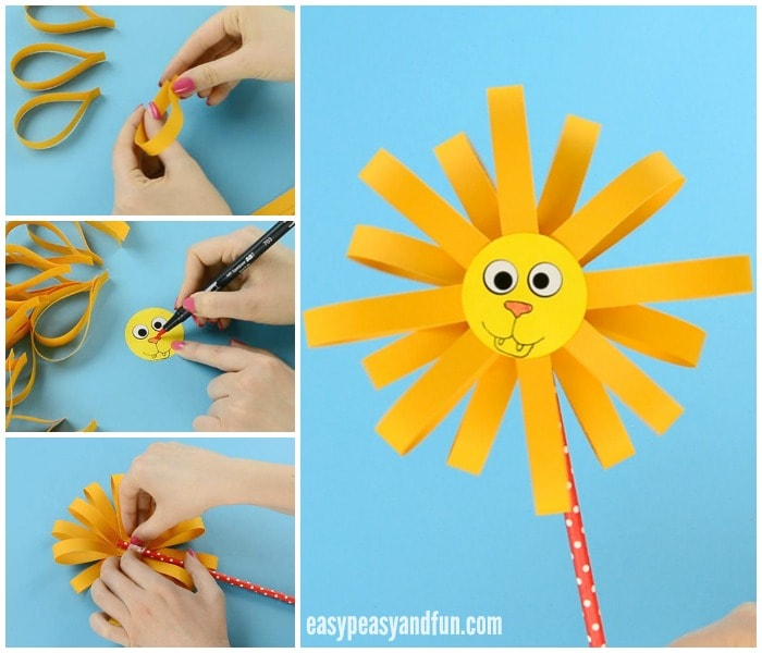 Cute Paper Lion Craft For Kids