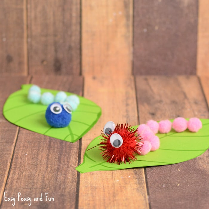 Spring Kids Craft Ideas Part - 49: Cute Pom Pom Caterpillar Craft For Kids
