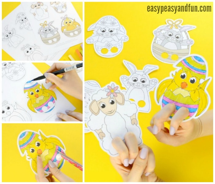 Cute Printable Easter Finger Puppets