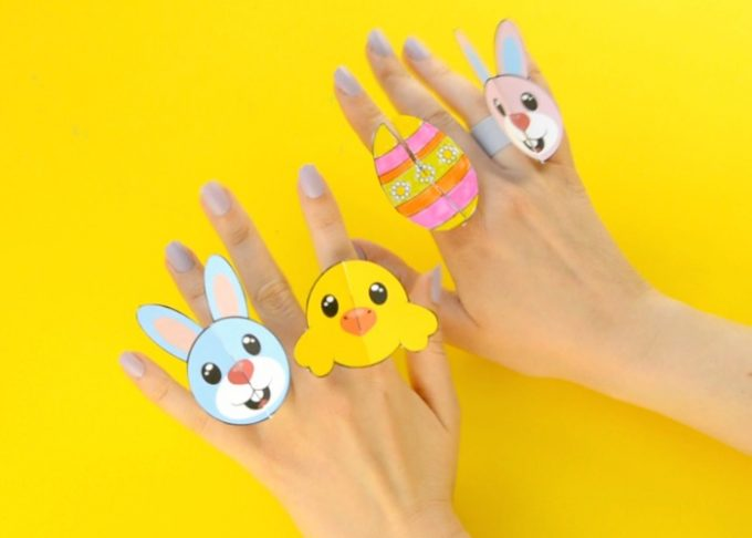 Printable Easter Paper Rings for Kids – Easter Craft Template