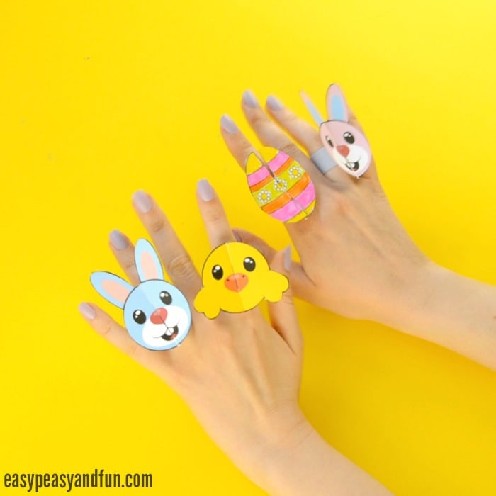 Cute Printable Easter Paper Rings