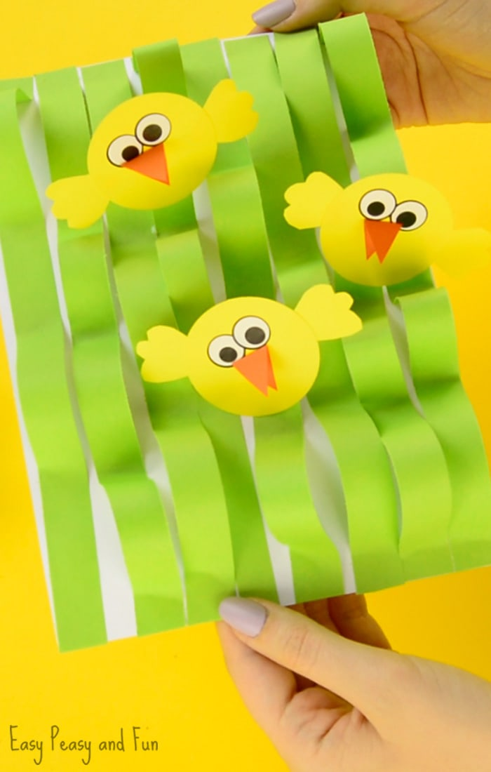 spring chick paper craft easter craft ideas easy peasy