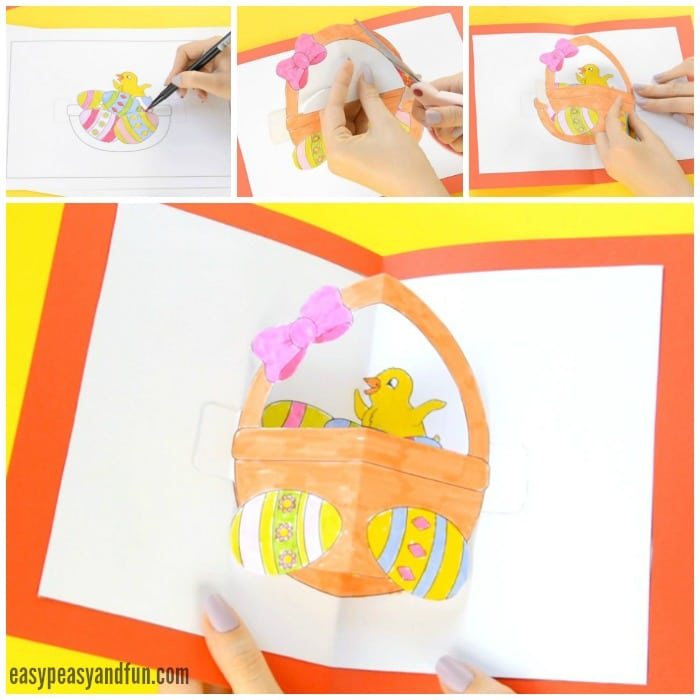 DIY Easter Pop Up Card Template