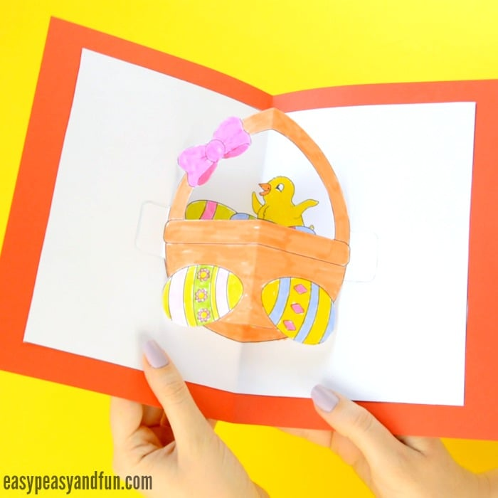 DIY Easter Pop Up Card for Kids