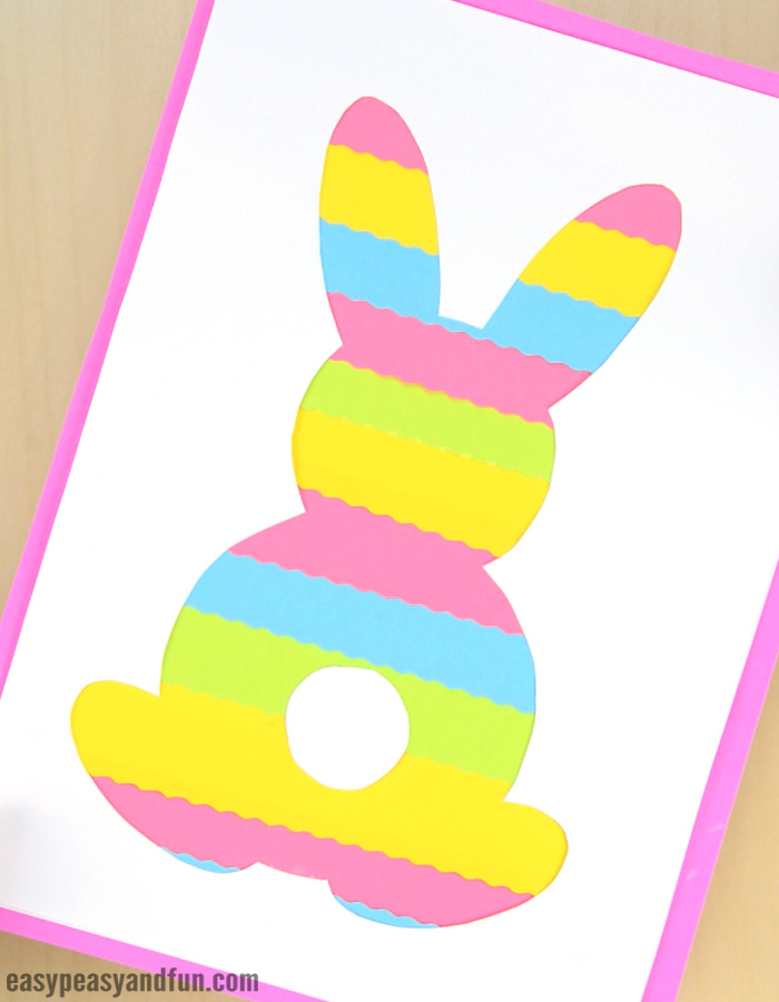 Easter Bunny Silhouette Craft for Kids to Make