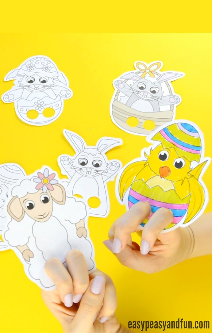 easter finger puppets - easter craft template